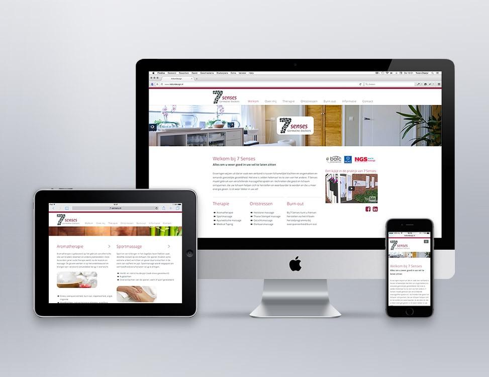 IndionDesign website 7 Senses