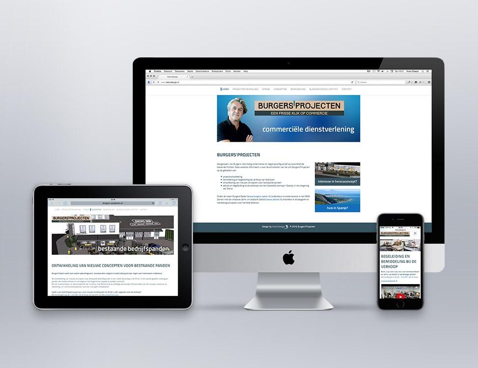 IndionDesign website Burgers'Projecten
