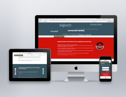 IndionDesign website Burgers'Zaken