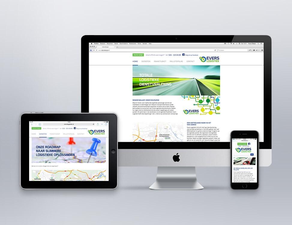 IndionDesign website Evers Logistiek