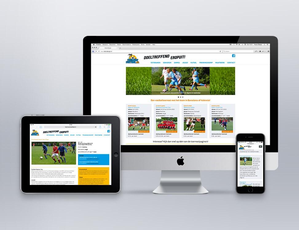 IndionDesign website ToernooiVoetbal